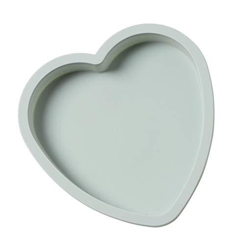 Niet-klevende siliconen cakevorm Niet-giftige bakplaatvorm Chocolade gereedschapsvorm, zeep Biscuit Taartdecoratie, Hartvorm, Blauw