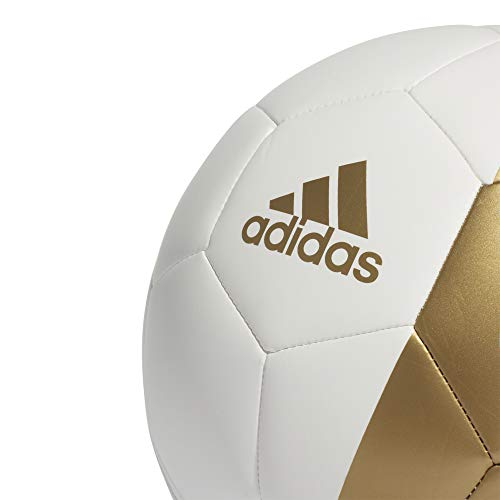 adidas RM CPT Soccer Ball, Mens, White/Dark Football Gold, 5 ...