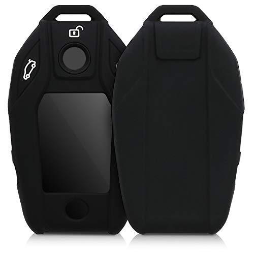 kwmobile Accessoire clé de Voiture Compatible avec BMW avec écran - Coque en Silicone Souple pour Clef de Voiture Noir