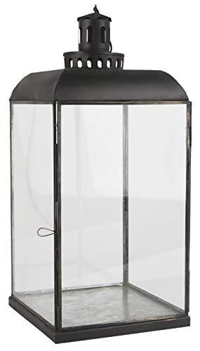 Ib Laursen Glazen Lantaarn/Pijler Kaarsenhouder met haak Deens Design 47 cm