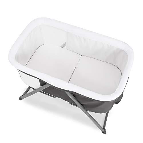 Hauck Dreamer Babywiege/Stubenwagen/Beistell-/Reisebett, inkl. Matratze und Spielzeugtasche, mit Schaukelfunktion, faltbar, klappbar und tragbar, Grau - 9