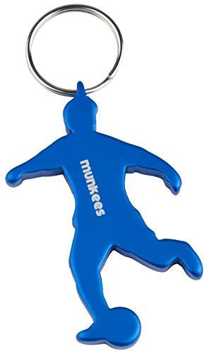munkees Schlüsselanhänger Fussball I Flaschenöffner I Fußball Fanartikel I Geschenk Artikel, Blau, 34906