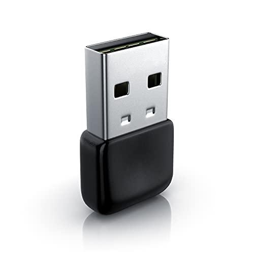 CSL - USB Bluetooth 5.0 Stick Mini – BT V5.0 Adapter - Wireless Dongle – für PC Laptop - Sender und Empfänger Bluetooth Kopfhörer, Headset, Lautsprecher, Mäuse, Tastaturen – 3 Mbit/s - Windows 8 10