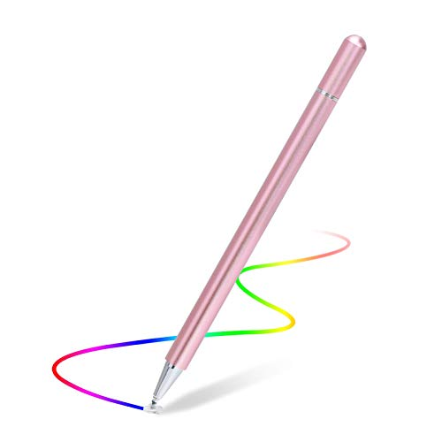 Capacitive Stylus Pen for Touch Screens, High Sensitivity Pencil Magnetism Cover Cap Compatible with iPad Pro/iPad Mini/iPad Air/iPhone Series All Capacitive Touch Screens (Rose Gold)