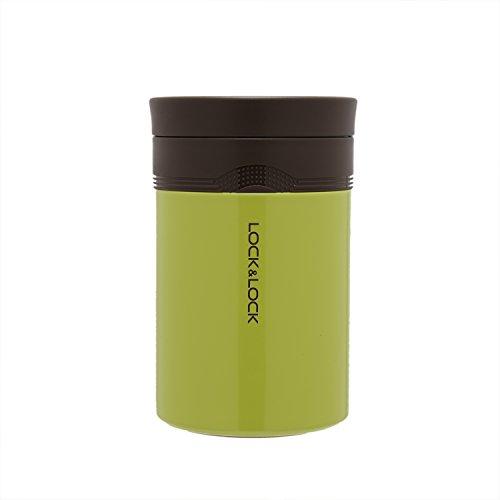 LOCK & LOCK Thermobehälter für Essen & Suppe - NEW WAVE FOOD JAR - Isolierbehälter Edelstahl für Speisen - Thermo Speisebehälter f. unterwegs, 500ml in Grün