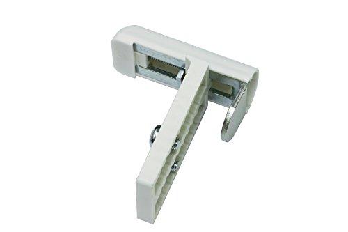 GARDINIA 10004205 Universal Klemmträger 2 Stück, Inkl. Inbusschlüssel, Montage ohne Schrauben und Bohren, Weiß, Metall/Kunststoff, Verstellbereich 6-26 mm