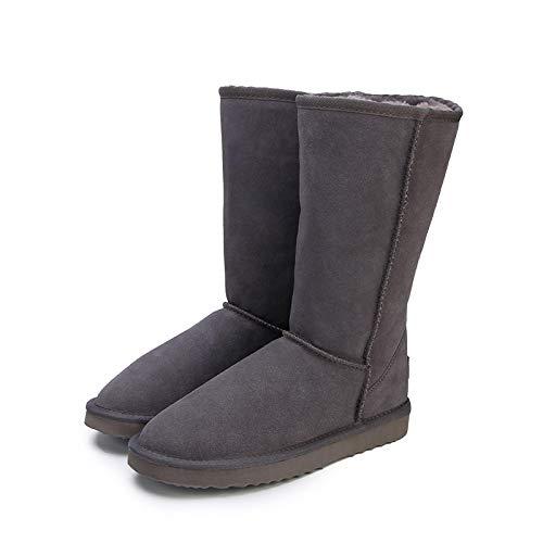 Hausschuhe Baumwollpantoffeln Mode Hochwertige Schneeschuhe Damen Mode Damen High Boot Winter Damen Schuhe 10 Grau