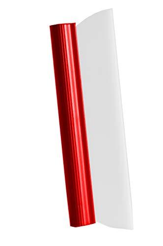 Glart Glart Water Blade Badkamer, douchewisser, wisserbreedte 31 cm, met ergonomische greep, voor douche, spiegels en ramen, voor grote oppervlakken, ruitenreiniger, rood, breed