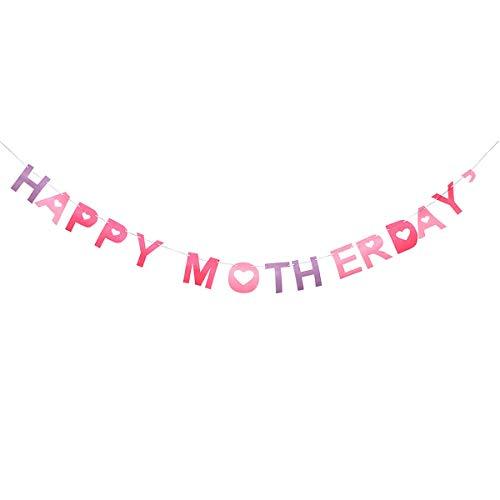 Feliz día de la madre Cartel de la bandera Letras Tema Banner Accesorios de fotos Suministros para fiestas Decoración
