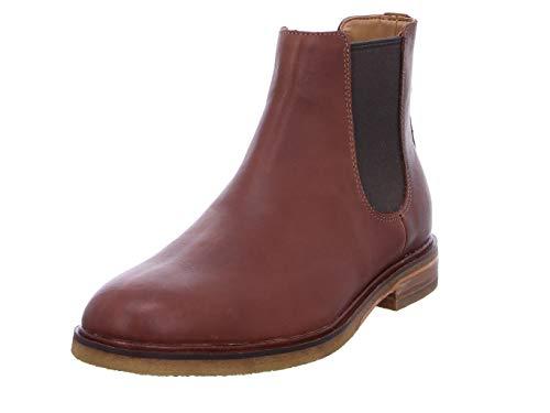 Clarks Clarkdale Gobi, Botas Chelsea Hombre, Marrón (Mahogany Leather), 45 EU