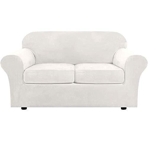H-CAR Fundas de sofá elásticas, fundas de sofá impresas de poliéster y elastano, fundas de muebles para sillón con parte inferior elástica, espuma antideslizante (3 plazas/sofá, geometría)