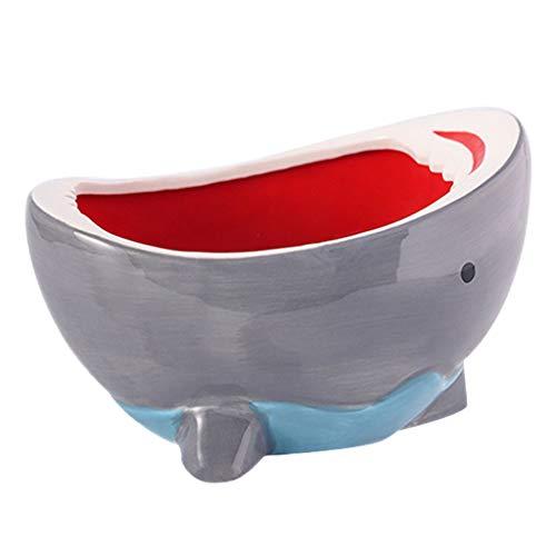 YERT Adornos de cerámica, Bonitos Cuencos con Forma de tiburón, Cajas de Almacenamiento Creativas, Tanques de Almacenamiento de artesanía Hechos a Mano, Decoraciones, tocador de d