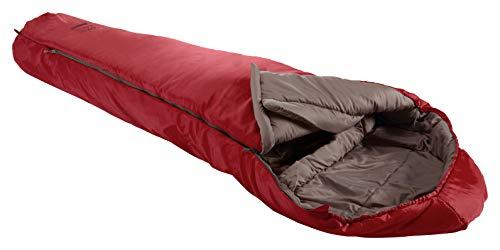 Grand Canyon Fairbanks - Warmer Mumienschlafsack, 3-Jahreszeiten, Extrem: -21°, Unterseite wasserabweisend, bis Körpergröße 190 cm, für Camping, Outdoor, Survival, Trekking, Red Dahlia, 340007