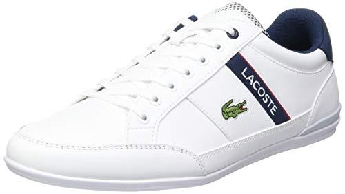 Lacoste Chaymon 0120 2 CMA, Zapatillas Hombre, Blanc (Wht/Nvy/Red), 43 EU