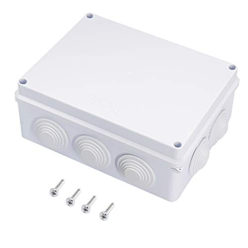 Zulkit Junction Box ABS Plastic Dustproof Waterproof IP65 Universal Electrical Boxes Project Enclosure White 7.9 x 6.1 x 3.1 inch (200 x155 x 80mm)