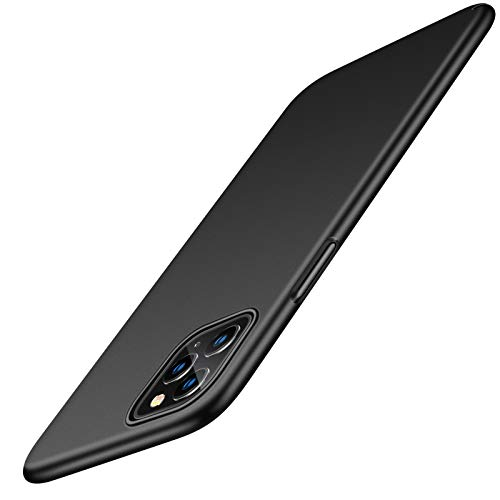 TORRAS Ultra Thin Slim iPhone 11 Pro Max Case with 2×Tempered Glass Screen Protector, Fully Protective iPhone 11 Pro Max Cover Hard Silky Matte Finish iPhone 11 Case and Screen Protector 6.1'-Black