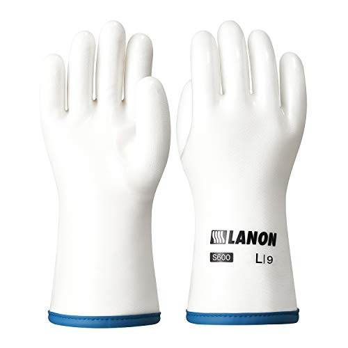 LANON Protection Heat Resistant Oven Mitts Liquid Silicone Gloves with Fingers for Barbecue Baking Cooking BPA Free Large