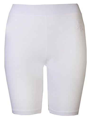 Brody & Co.Pantalones cortos de ciclista de mujer por encima de la rodilla para ir al gimnasio, practicar danza, yoga Blanco blanco S/M