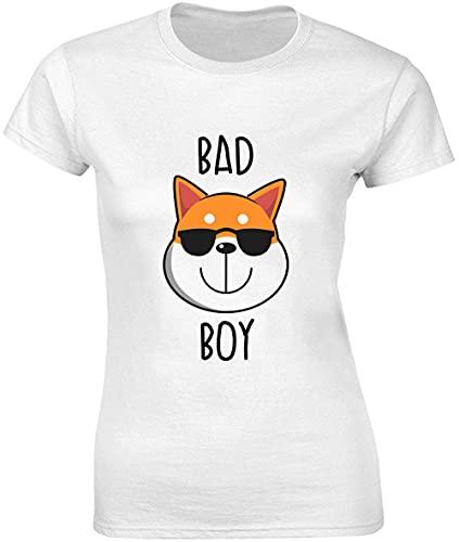 Bad Cool Shiba Inu - Camiseta para mujer con gafas de sol