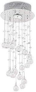 Etelux Lámpara Colgante LED de Cristal Araña Moderna Lámpara Colgante Lámpara de Techo Iluminación Interior para comedor dormitorio salón