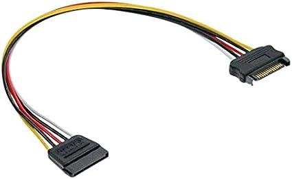 Inline 29651b Strom Verlängerung Intern Sata Stecker Computer Zubehör