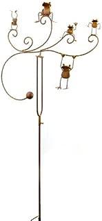 Red Carpet Studios Balancer Yard Art Stake, Frogs