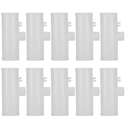 Fdit 10 Uds, Vasos de Agua para Aves de Corral, Accesorios en T, Manguera para pezones roscados para Aves de Corral, alimentador de Bebedero para Pollos(G3/4)