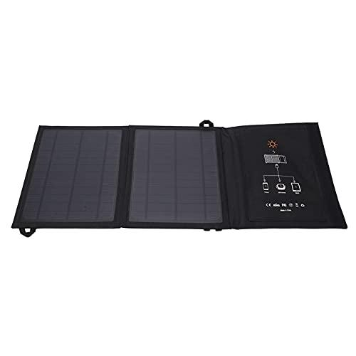 Mochilero con panel solar, cargador solar portátil para caminatas y viajes para autocaravanas y barcos