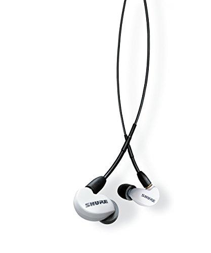 Shure SE215SPE-W-UNI-EFS In-Ear Kopfhörer mit passiver Geräuschunterdrückung für iOS & Android – Premium Ohrhörer mit warmem & detailreichem Klang – Special Edition: Weiß