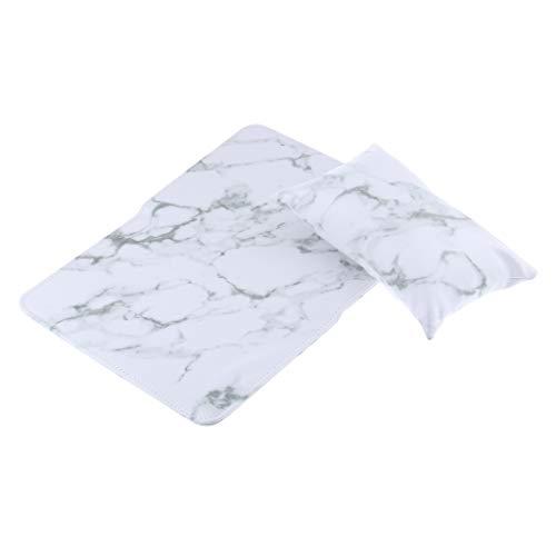 Bonarty Salon Hand Armlehne Kissen PU Leder Art Soft Schwammhalter Kissen - Weiß