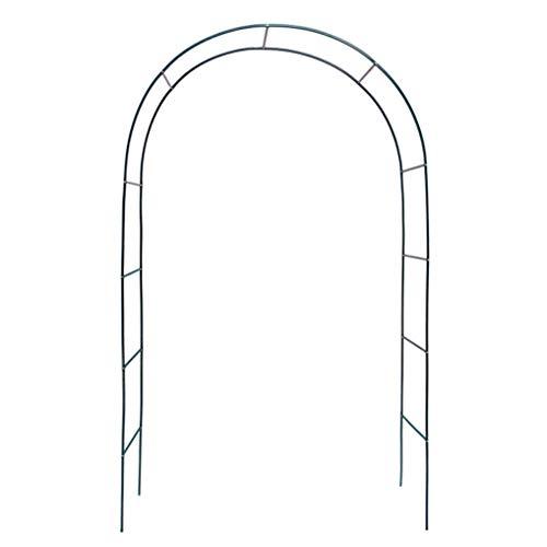 yuanfeng Arco Flores Hierro Forjado Fácil Montar Arco Boda Marco Vid Utilizado para Plantas Trepadoras Patio Césped Jardín