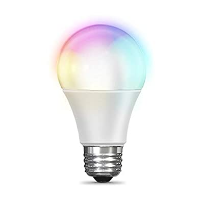 Feit Electric WiFi Color Changing and Dimmable, No Hub Required, Alexa or Google Assistant BR30 Smart LED Light Bulb
