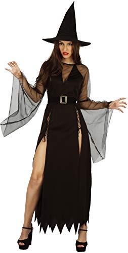 U LOOK UGLY TODAY Halloween Kostüm Damen Hexe Sexy Spitze Kleid Cosplay Karneval Abendkleid Verkleidungsparty- S/M - 42