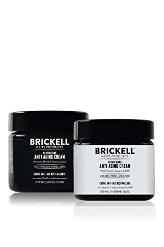 Brickell Men's Day and Night Anti Aging Cream Routine, Natural and Organic, Unscented