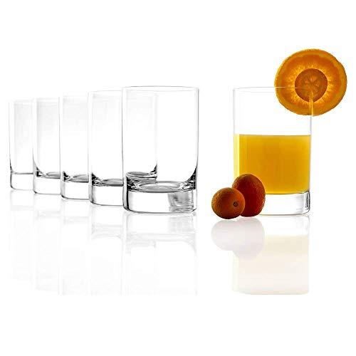 Grand verre à jus de fruits Stölzle Lausitz New York Bar de 290 ml, lot de 6 verres, compatible lave-vaisselle, en cristal sans plomb, de qualité supérieure
