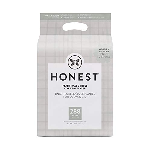 The Honest Company Baby Wipes, Plaid, 288 Count