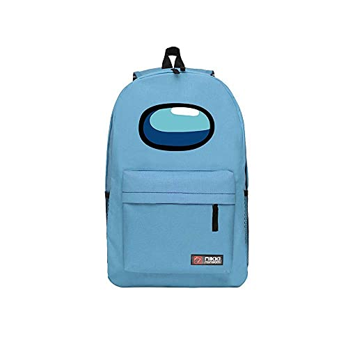 BlinBlin Among Us Mochila escolar, mochila para estudiantes, doble capa, mochila de lona para jóvenes adolescentes (29 cm x...