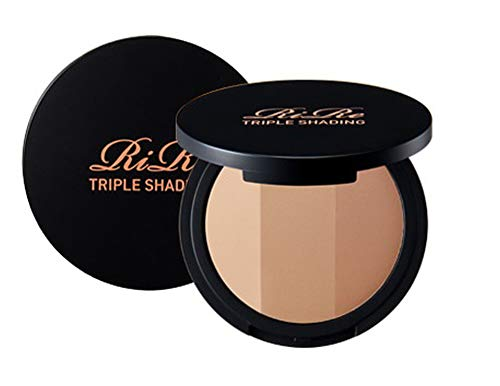 RIRE Triple Shading 9.5 Gram, Triple Color Facial Contouring Natural Figment Micro Powder Smooth Expression