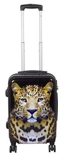 Valigetta da viaggio in policarbonato ABS, rigida, bagaglio a mano, nei modelli trolley o beauty case, XL L M S Multicolore leopardo m