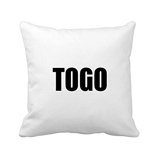 DIYthinker Togo país Nombre Square Negro Almohadilla de Tiro inserte la Cubierta del Amortiguador Inicio sofá Regalo de la decoración 40 X 40Cm (Hay Algunos Errores de medición)