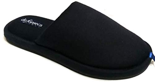 de fonseca Pantofole Ciabatte Invernali Uomo MOD. Potenza M400 Blu (40/41)