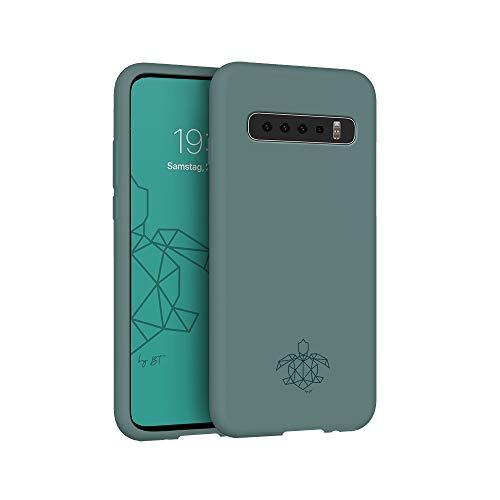 turtleandcase Hülle Kompatibel mit Samsung Galaxy S10 Plus, Silikon Handyhülle, Dünne Schutzcase und Stoßfest für Samsung Galaxy S10 Plus 6,4 Zoll (Piniengrün)