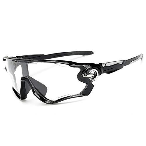 Gafas Sol Deportivas polarizadas para Hombres y Mujeres, Gafas para Exteriores a Prueba Viento UV400 Ciclismo Correr Conducción Pesca Golf Gafas béisbol con Lentes de 3 Piezas (4)