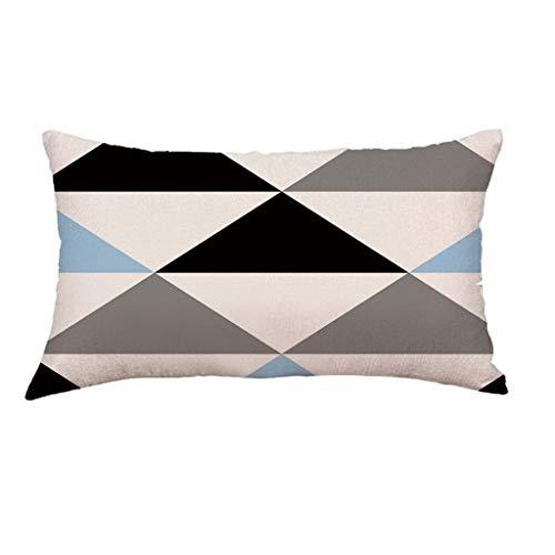 Hunpta @ Kissenbezug 30x50 cm - Kissenhüllen Kopfkissenbezug für Wohnzimmer Schlafzimmer Kinderzimmer Sofa Dekor Einfaches Geometrie Muster Home Dekorative Zierkissenbezüge mit Reißverschlüsse