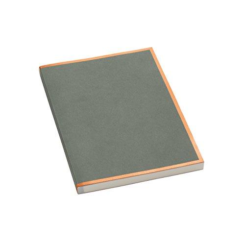 Semikolon (355815) Notizbuch metallic Kupfer-Kante grey (grau) liniert - Mit 200 perforierten Seiten - Efalineinband mit Metallic-Effekt