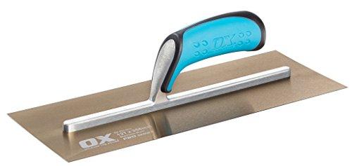 OX Plasterers Trowel - Pro Stainless Steel Plastering Trowel - Heavy Duty Plasterers Trowel for Finishing/Skimming/Rendering - Multicolour - 127 x 356 mm