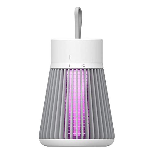 Lámpara para matar mosquitos, silenciosa electrónica Bug Zapper portátil Mosquito Insect Killer USB recargable Fly Zapper Light para interiores y exteriores