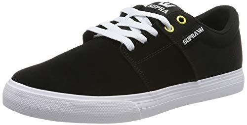 Supra Stacks II Vulc, Zapatillas de Skateboard Unisex Adulto, Negro (Black/Black-White-M 44), 40 EU