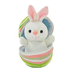 Idea Regalo - Kögler 75762 - Mini Coniglietto in Peluche a Forma di Uovo, Circa 13 cm, Piccolo Peluche da coccolare e Amare, Idea Regalo per Bambini, Ragazzi e Ragazze