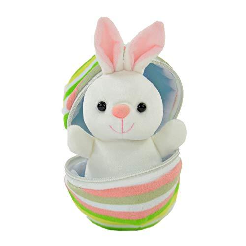 Kögler 75762 - Hanna, Mini Hase aus Plüsch im Ei, ca. 13 cm groß, kleines Plüschtier zum Kuscheln und Liebhaben, als kleines Geschenk für Kinder, Jungen und Mädchen